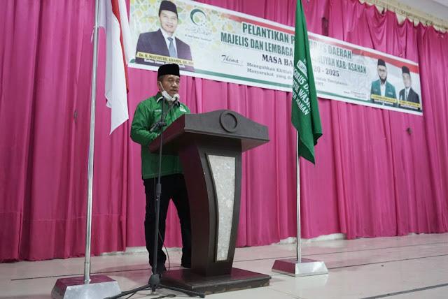 Wabup Hadiri Pelantikan PD Majelis Lembaga Al-Washliyah Kabupaten Asahan Masa Bakti 2020-2025