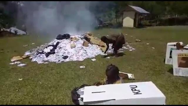 Ribuan Surat Suara Dibakar di Tingginambut