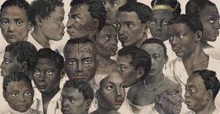 Colagem sobre Litografias de Escravos de Johann Moritz Rugendas