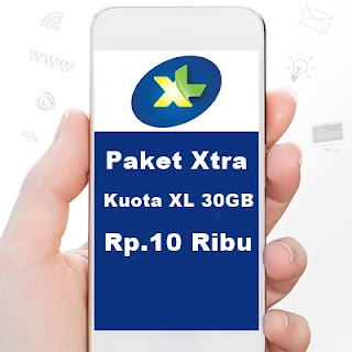 Cara daftar paket Xtra kuota 30GB 11.900rb XL 1 bulan tanpa aplikasi