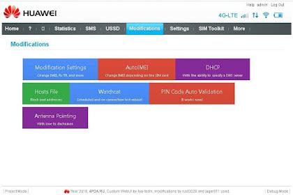 WEBUI 17.100.18.03.143 HILINK Mod 1.21 Change IMEI Fix TTL