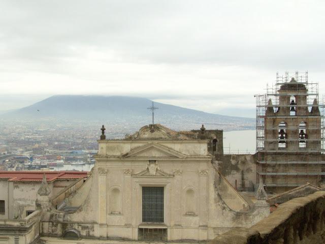 Widok na wulkan Wezuwiusz Neapol