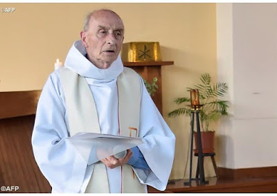 """""""To kill in the name of God is satanic"""" -Pope Francis says at Mass for French priest murdered by ISIS terrorists"""