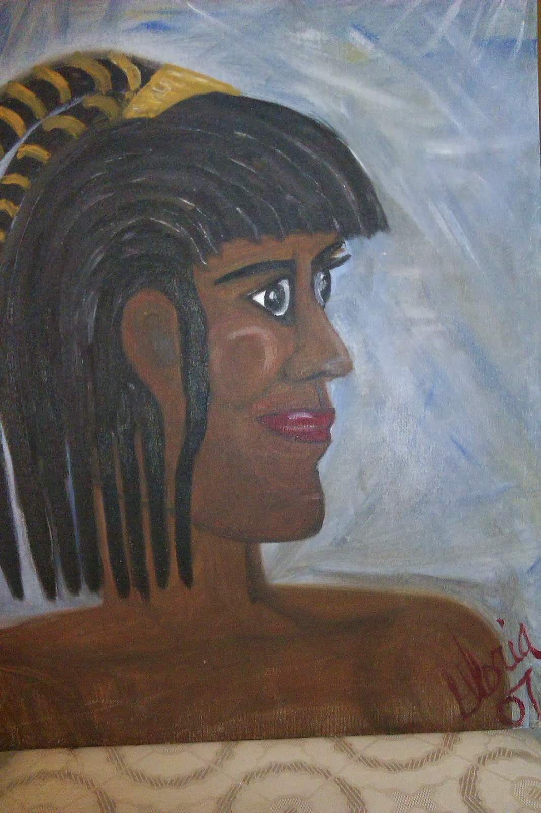Amazon-woman-oil-painting-ethnic-series-by-gloriapoole-2007