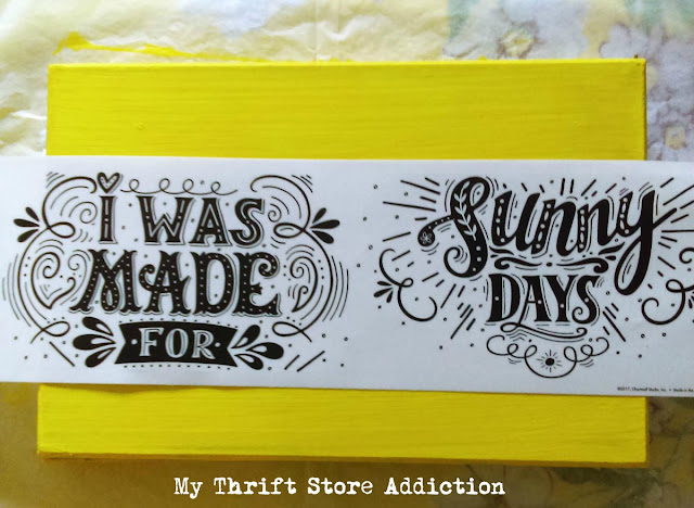 15 minute summer sign upcycle