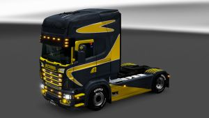 Gray & Yellow paint job for RS Scania by EviL