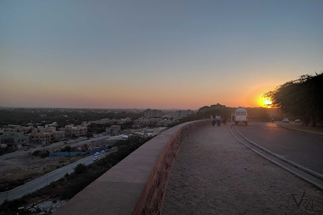 Sunset as seen from the Chittar hill