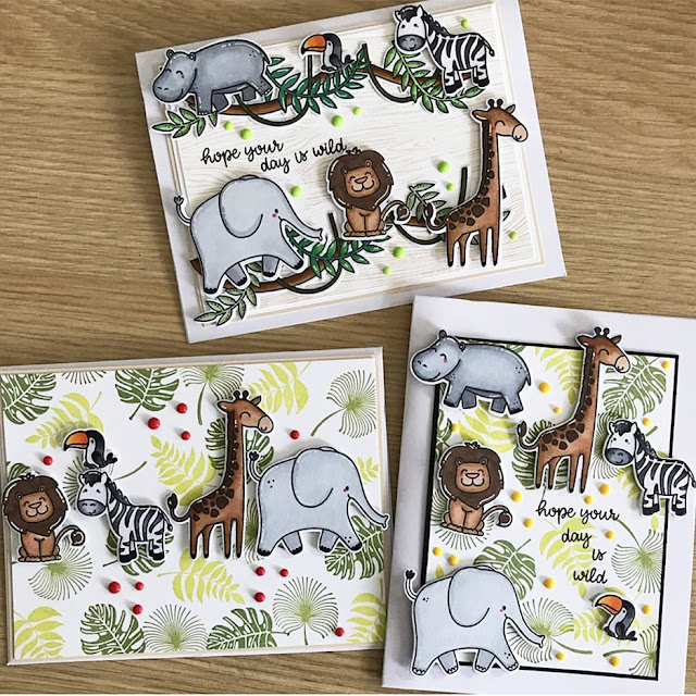 Sunny Studio Stamps: Savanna Safari Customer Card by Ahna Kloppenborg