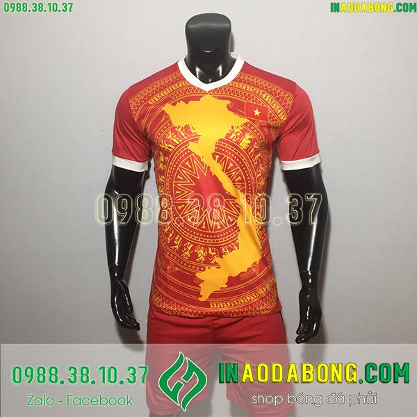 Áo bóng đá đội tuyển Việt Nam bản đồ
