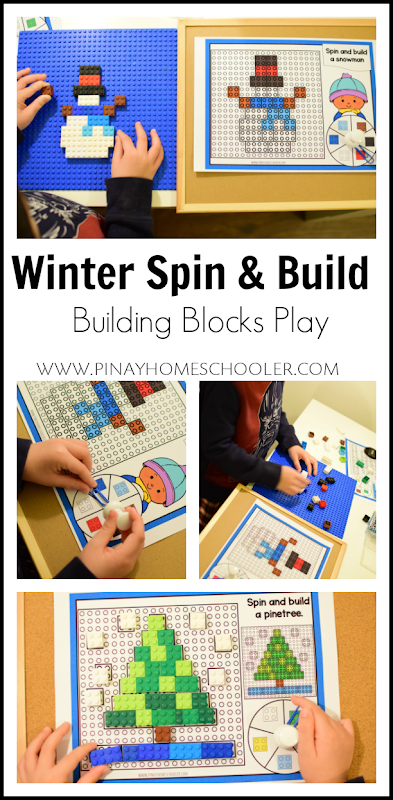 Winter Themed Spin and Build LEGO Building Games