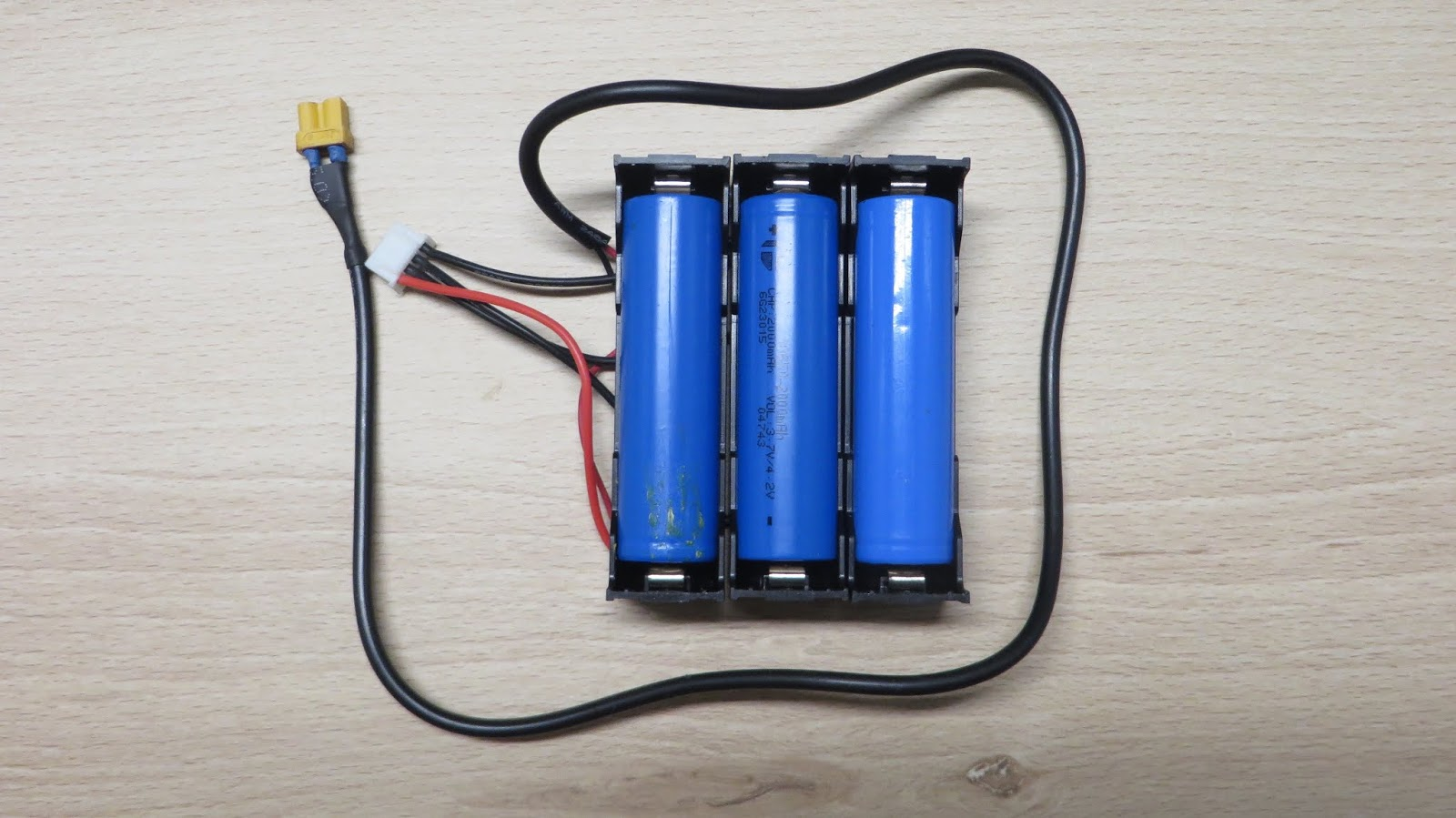 18650 Lithium battery pack without spot welder