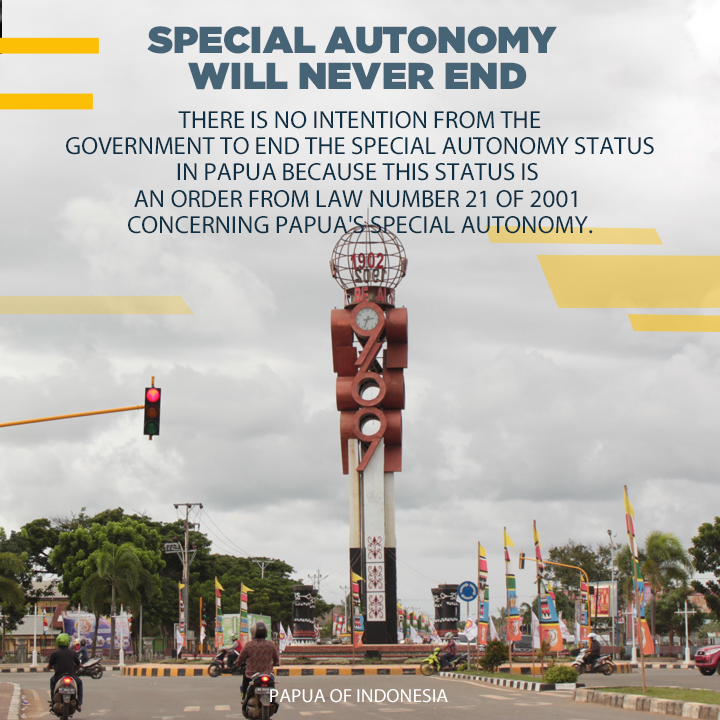 As a Product of Papua Special Autonomy Law will not End