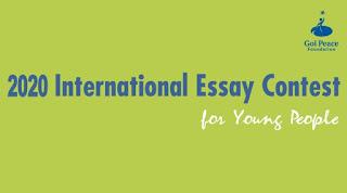 Goi Peace Foundation 2020 International Essay Contest [Children & Youths]
