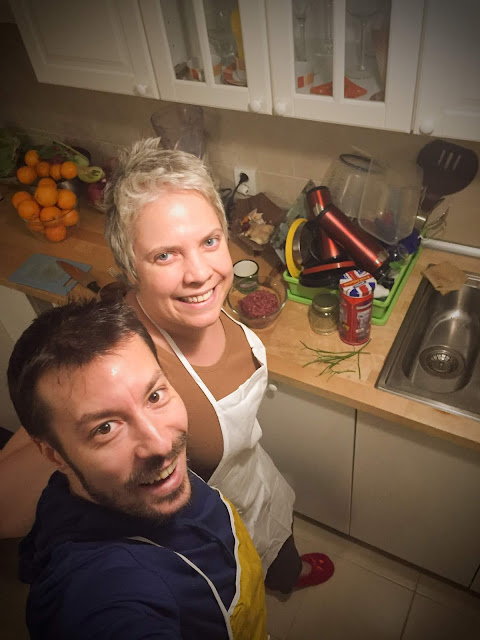 Baking at home, with Marcel