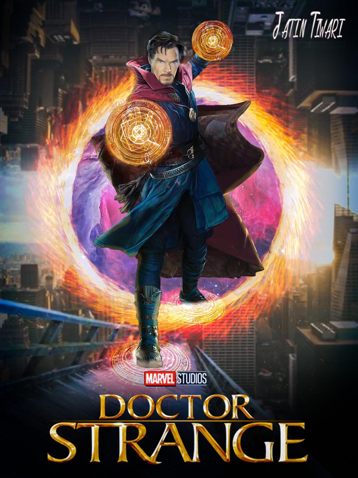 Free Download Doctor Strange Movie Poster Design