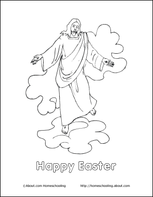 Happy Easter Kids Colour Page