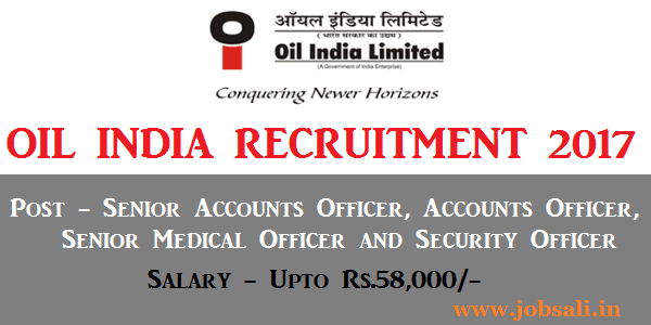 oil recruitment duliajan 2017, oil recruitment 2017 assam, accountant jobs in oil company