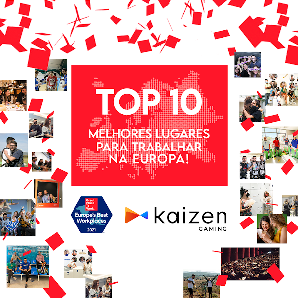 Betano/Kaizen Gaming no Top 10 das melhores empresas para trabalhar na Europa