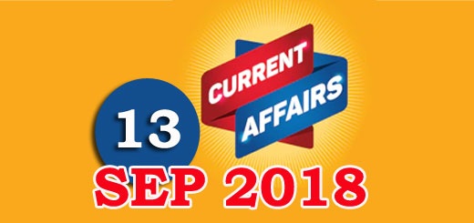 Kerala PSC Daily Malayalam Current Affairs 13 Sep 2018