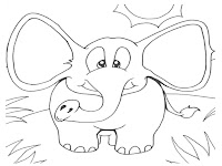 African Elephant Printable Coloring Pages