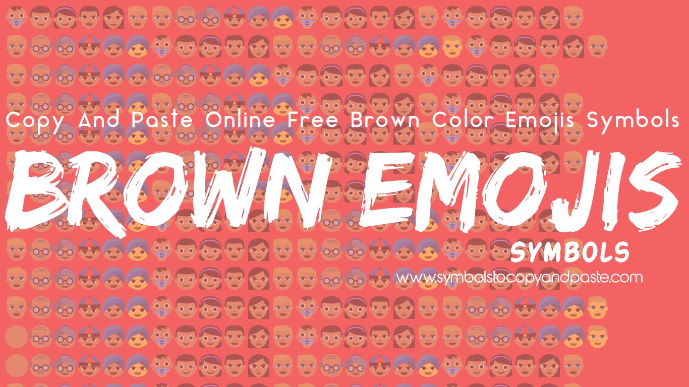 Brown Emojis - 👩🏽 Copy Online Brown Color Emojis