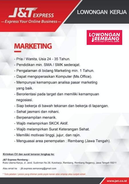 Lowongan Kerja Marketing J&T Express Rembang
