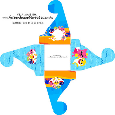Baby Shark Party Free Printable Boxes.
