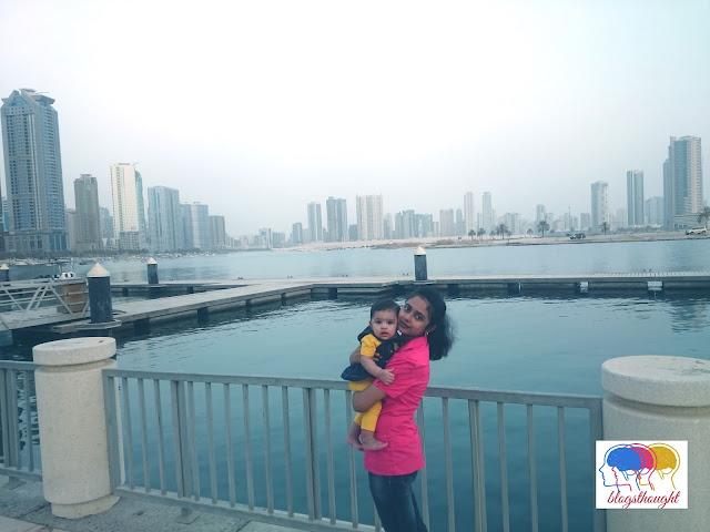 dubai with infant