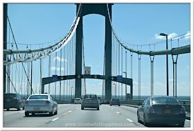 Delaware Bridge in Maryland  |  3 Garnets & 2 Sapphires