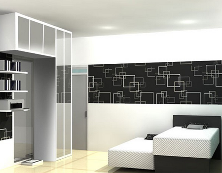 Desain Kamar Tidur Bernuansa Hitam Putih - Desain Rumah ...