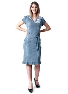 modelos de vestidos jeans evangelicos - looks e fotos
