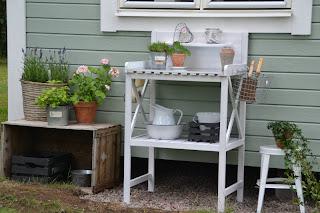Rusta planteringsbord