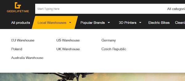 Já conheces a GeekLifeTime? Montes de produtos em armazém Europeu