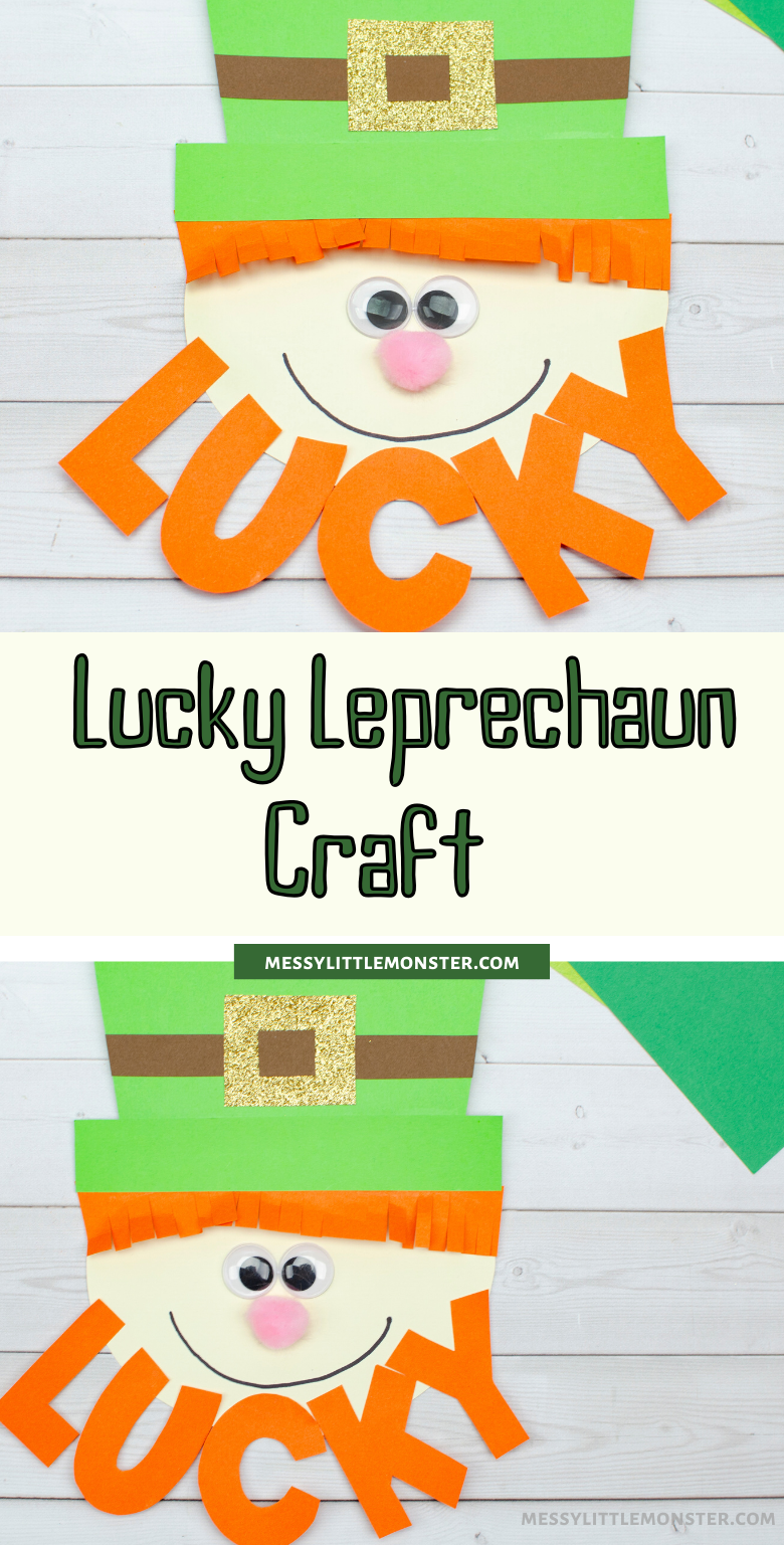 Lucky leprechaun craft. A fun and easy St Patricks Day craft for kids.