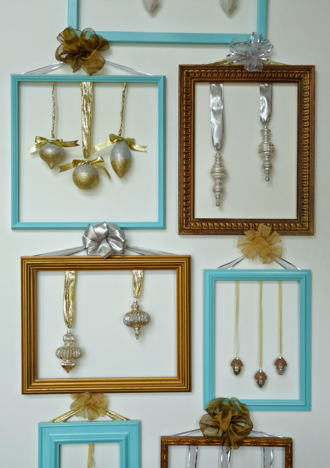 Framed Christmas ornaments
