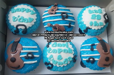 Cupcake Birthday Tema Alat Musik Gitar