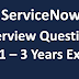 ServiceNow Interview Questions for 1-3 Years of Experience