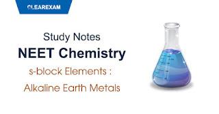 s-block Elements – Alkaline Earth Metals