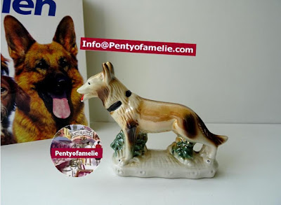 Vintage Lassie Collie Dog figurine multicolored Glossy Porcelain made in Brazil