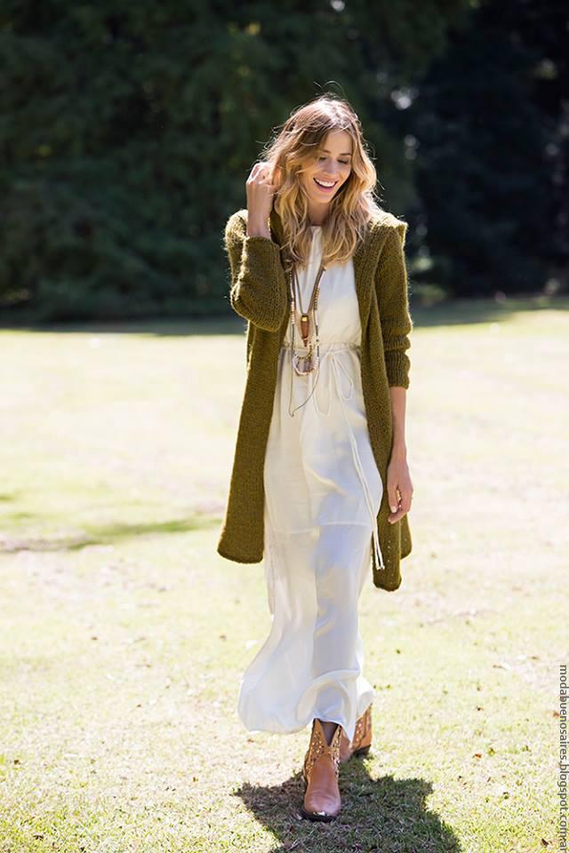 Moda invierno 2016 ropa de moda mujer tejidos.