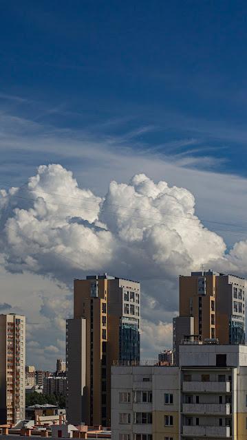 cloud Begovaya SPb Saint Petersburg sky august