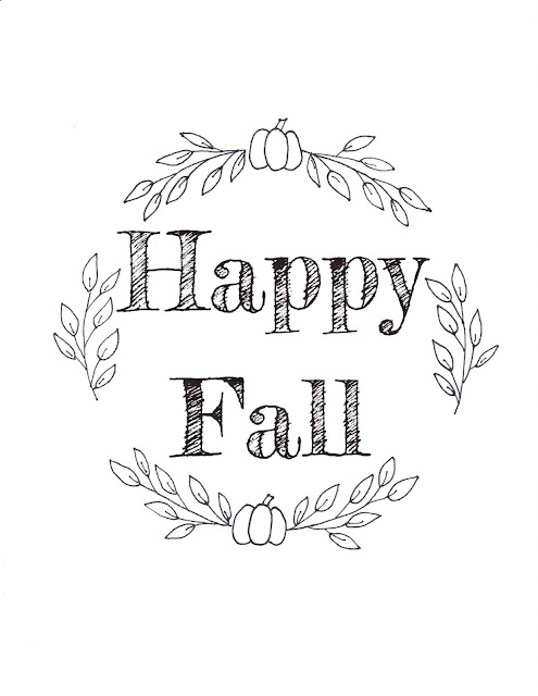 printable embroidery template for fall