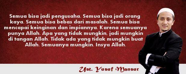 Mutiara Indah Ustadz Yusuf Mansur : Kunci Sukses dan Kaya Dunia ...