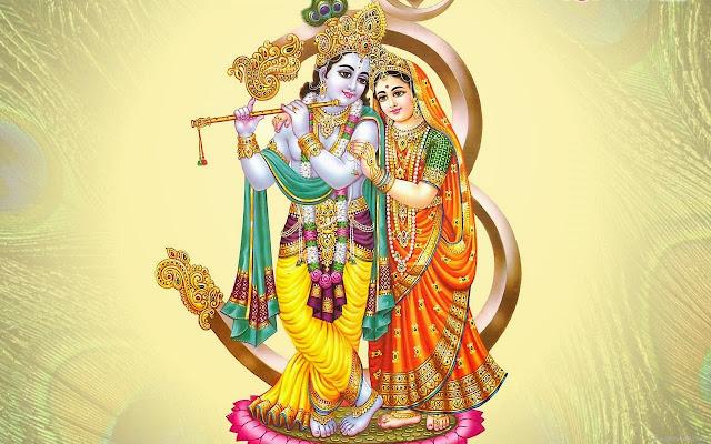 Best Radha & Krishna Om HD Wallpaper