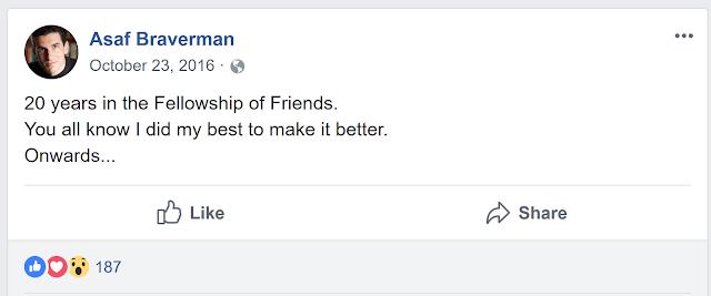 Former Fellowship of Friends cult leader Asaf Braverman departs