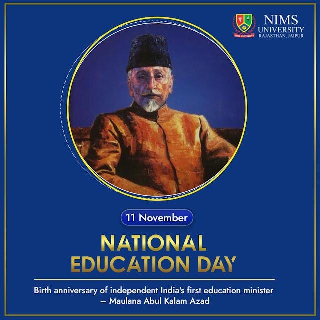 National Education Day of India Quotes Images - Maulana Abdul Kalam Azad