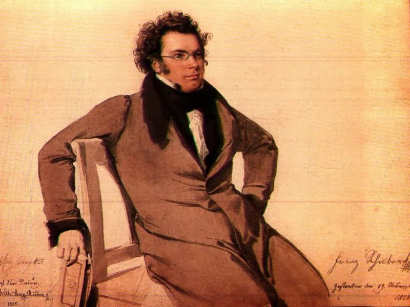 Franz Schubert by Wilhelm August Rieder