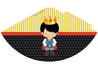 Sombrero para Imprimir Gratis de Pequeño Rey.