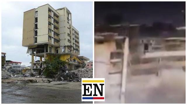 implosion centro comercial portoviejo