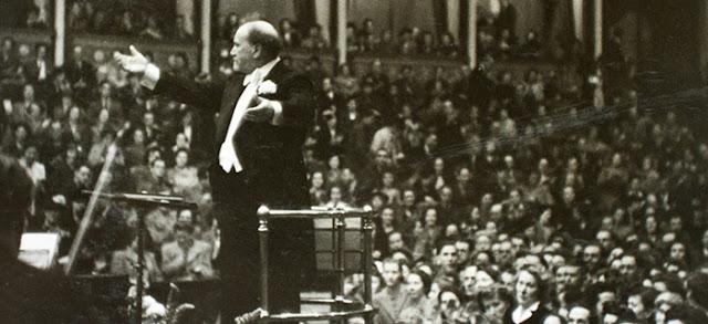 Sir Henry Wood conducting at the Royal Albert Hall